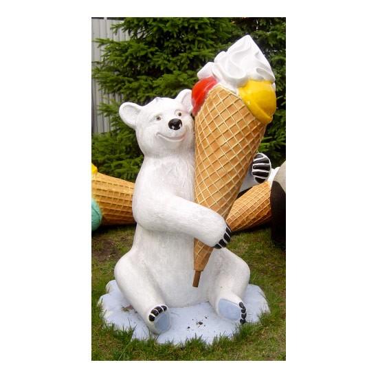 Eisbär mit Kugeleistüte #2